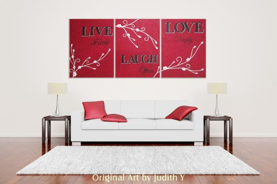 Live freely Laugh often Love deeply Original Painting by studiox26, $298.00- 15% OFF