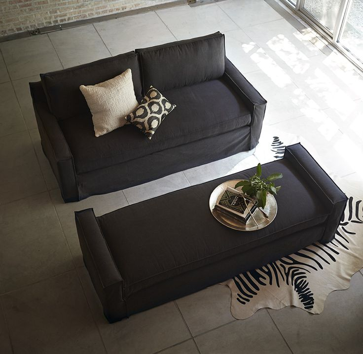 a daybed that fills in as a coffee table and when you push them together they form a comfortable queen size