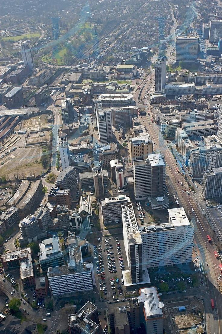 Central Croydon from the air.