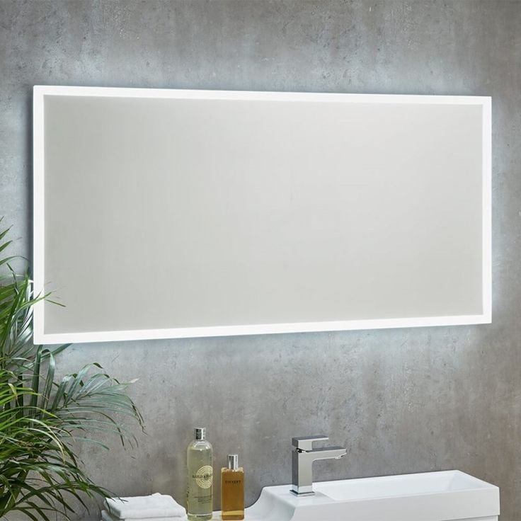 Harbour Glow LED Mirror with Demister Pad & Shaver Socket - 1200 x 600mm