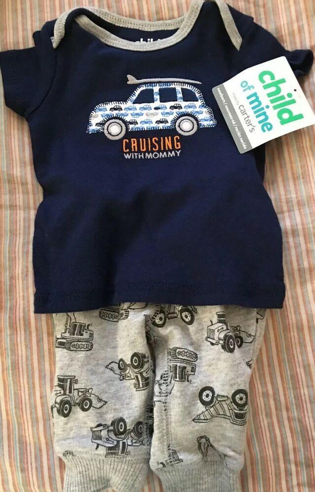 aca2036a5 Carters Baby Boy Clothes Newborn 2 Piece Bodysuit Pants Outfit Set ...