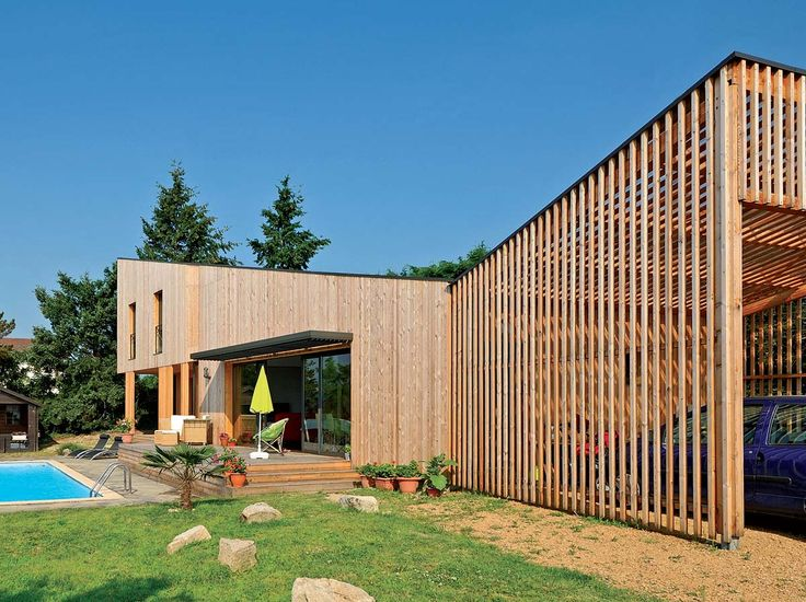 Maison Ossature Bois Imaginée Par Lu0027agence Du0027architecture Gallet  Architectes. Photographe Fabien · OsbWooden HousesPlansExterior ...