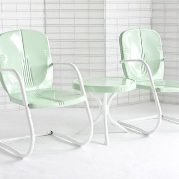 Must have! Although, too expensive! Geometric Patio Set Mint, $498, now featured on Fab.