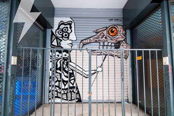 Streetart στην Κλεισόβης, Εξάρχεια. Artists: Loaf & Zie