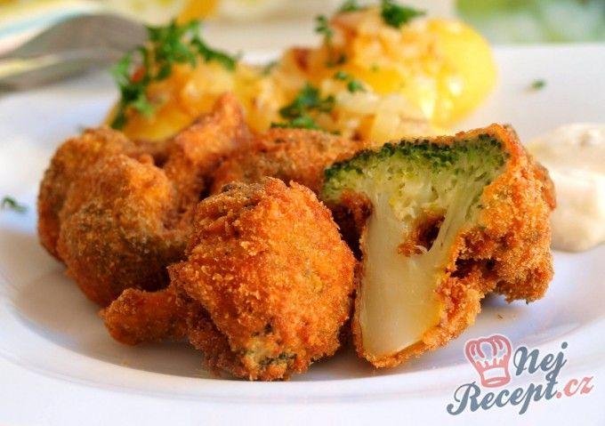 Smažená brokolice s bramborovou kaší