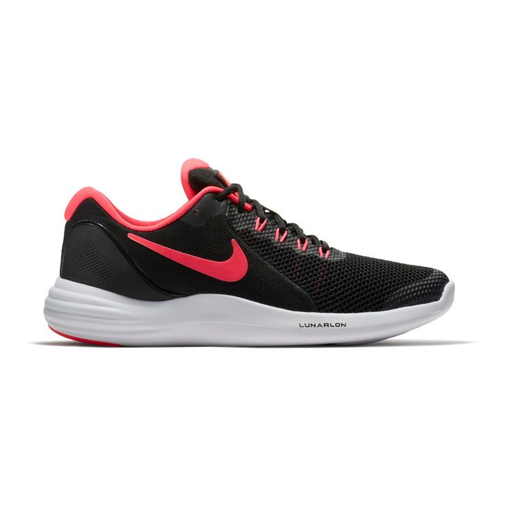 Nike Lunar Apparent Grade School Girls' Sneakers, Size: 4.5, Black