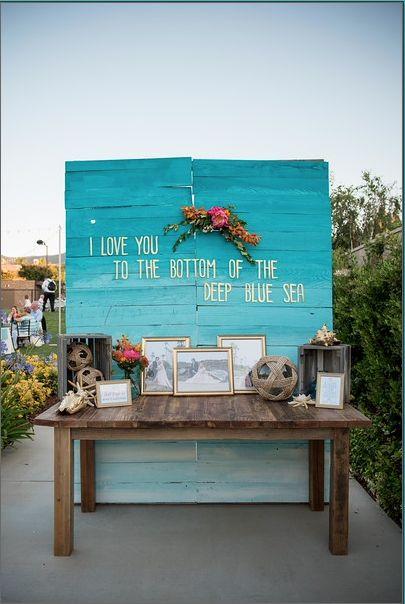 Wedding welcome table, wedding backdrop, beach wedding, wedding flowers