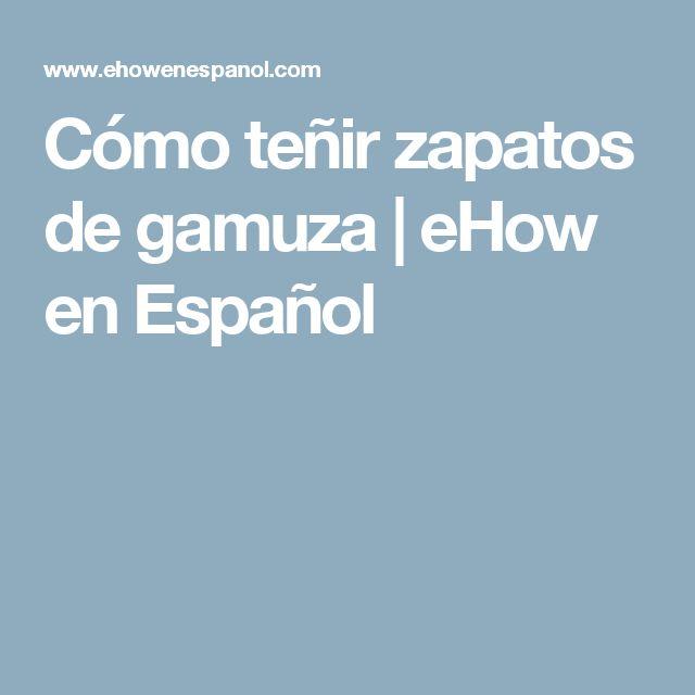 Cómo teñir zapatos de gamuza | eHow en Español