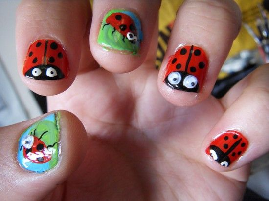 The 93 Best Beauty Bugs Fairies And Fruit Nail Art Images On