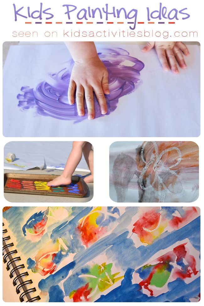 8 Creative Kids Painting Ideas to Try at Home - such fun ideas!
