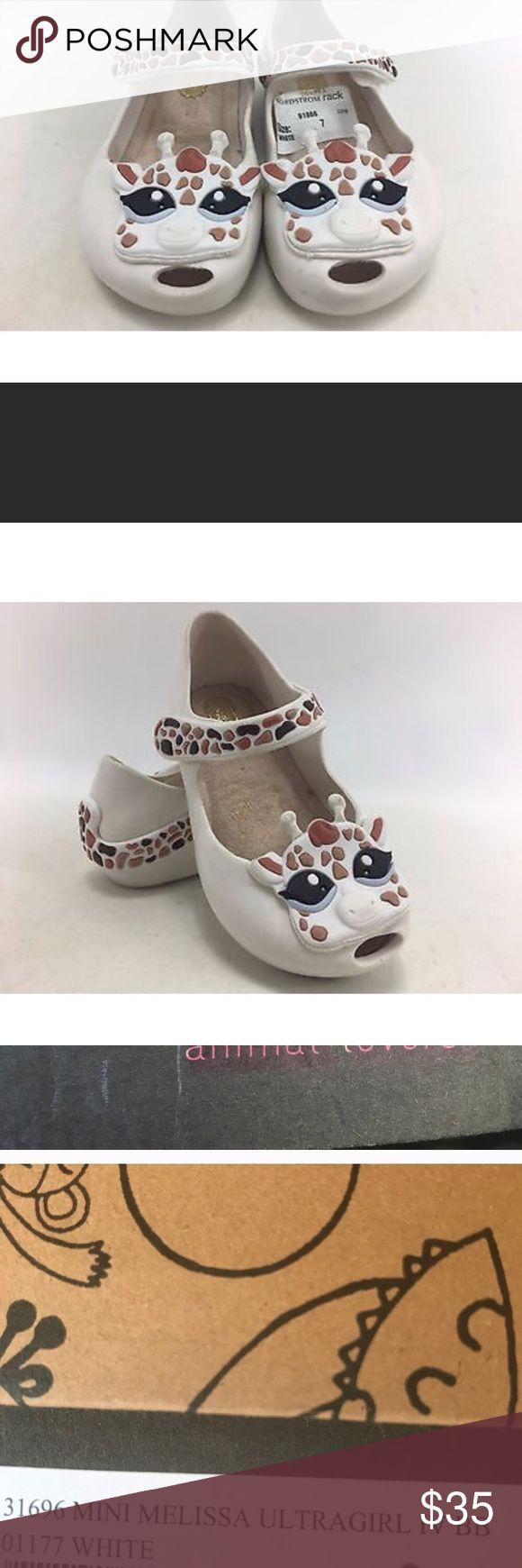 New in Box mini-Melissa toddler shoes New mini-Melissa size 6 Girls giraffe mini-mellisa Shoes