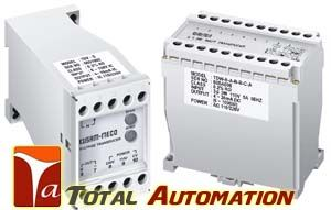Kusam Meco- TD SERIES AC CURRENT TRANSDUCER - Total Automation Dual Aux. Power 110/220V AC High Accuracy 0.2% RO at 23oC± 5oC High Dielectric Strength 2.6KV AC/Min, Between Input / Output/ Power Case ABS Plastic Case, DIN Rail or Wall Mounting