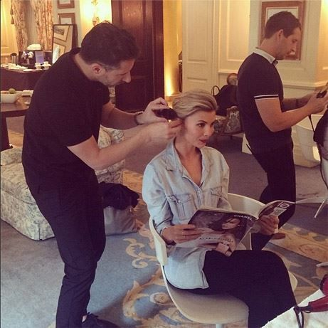 RAW Anthony Nader working his magic on A Place To Call Home's Abby Earl at the The Langham, Sydney ahead of tonight's Women of style.