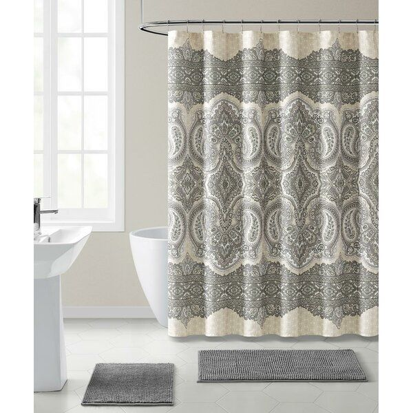 Teyvione Mold Mildew Resistant Fabric Shower Curtain In 2020