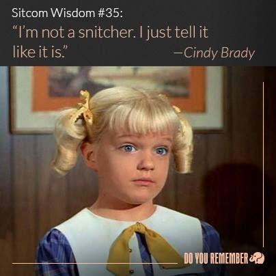 """Cindy Brady of """"The Brady Bunch"""""""
