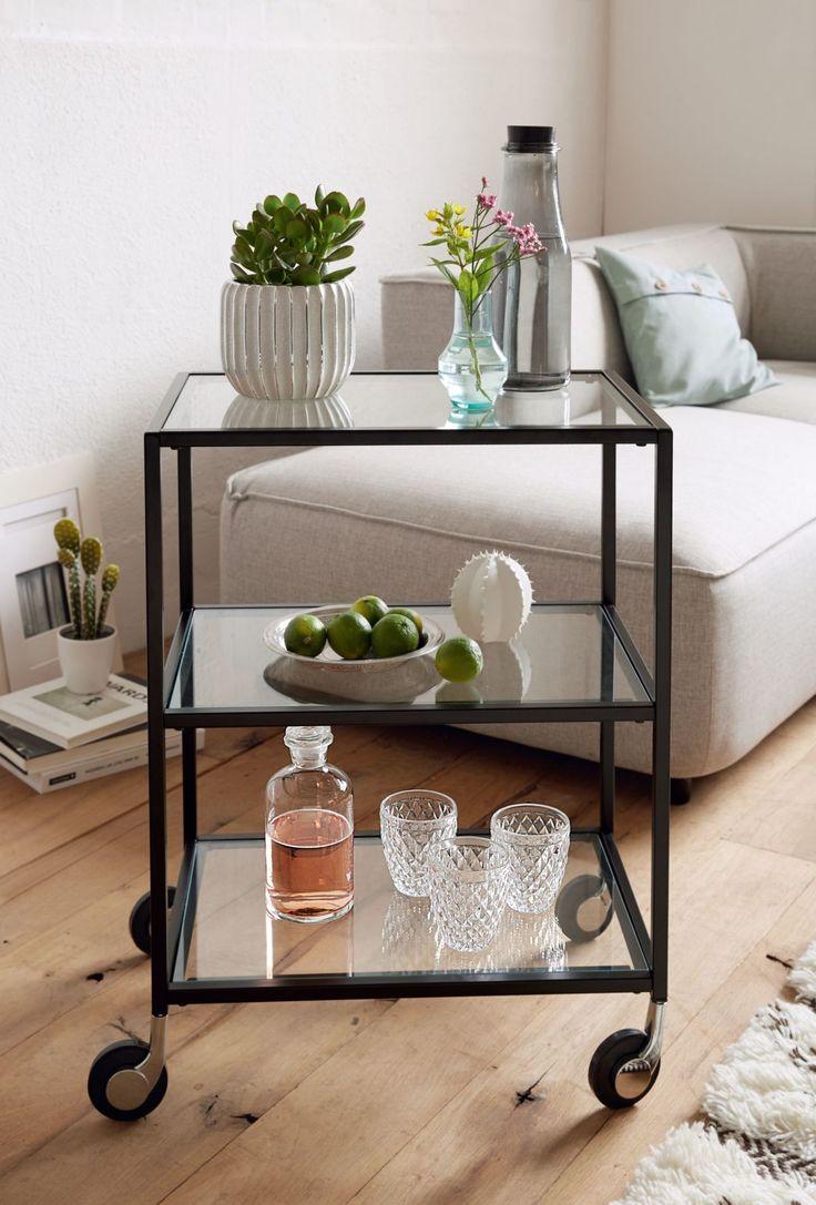 25+ best ideas about beistelltisch glas on pinterest | flaschen ... - Wohnzimmer Modern Hell