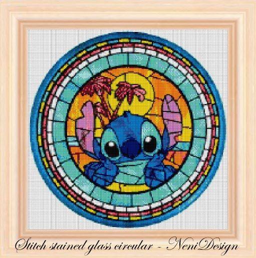 cross stitch pattern cross stitch Stitch stained glass