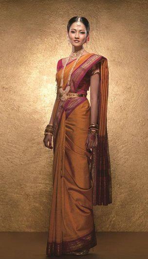saree south indian bride