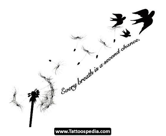 But better birds...love the saying.   Dandelion Tattoo Meaning 13