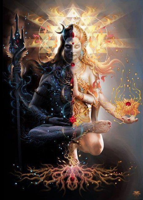 Siva, one of the most powerful gods in Hinduism, when in the Ardhanarishvara form is actually half woman.