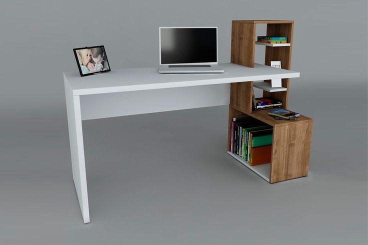 Vente wooden art 22929 bureaux bureau side blanc for Wooden art meuble tv