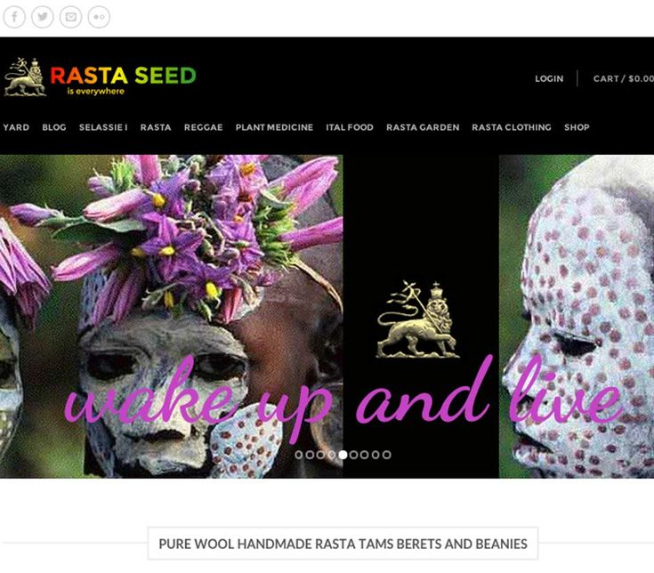 Rasta Seed is a rasta merchandise, medicine food and reggae music blog with shopping cart designed and developed by Wordpressit