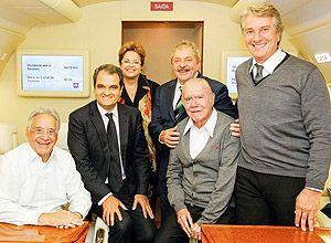 Fernando Collor posta foto ao lado de Dilma Rousseff, Lula, Fernando Henrique Cardoso e José Sarney