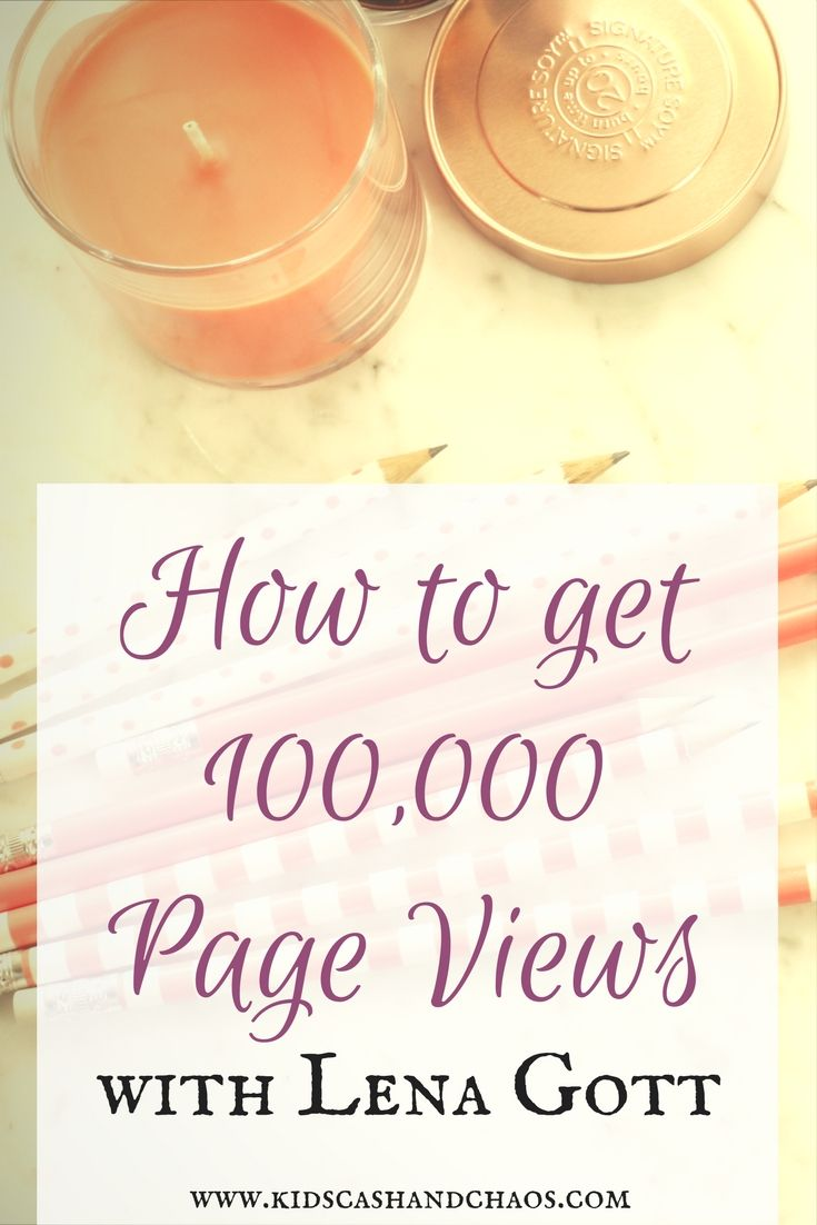 How to Get 100,000 Page Views with Lena Gott author of an amazing ebook about blog traffic and strategies to get more!
