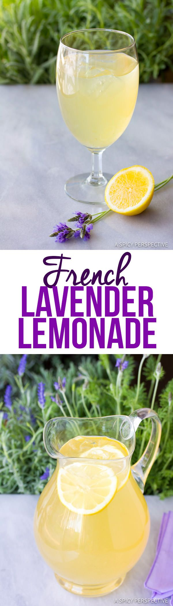 Perfect French Lavender Lemonade Recipe | ASpicyPerspective.com                                                                                                                                                                                 More