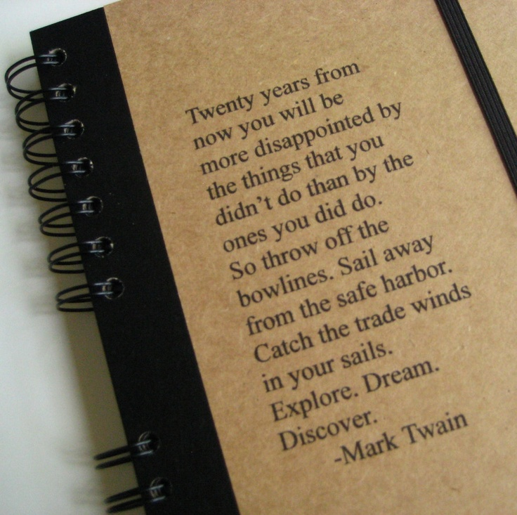Quotes From The Notebook Book: Mark Twain Notebook Journal Quote Large Graduation Blank