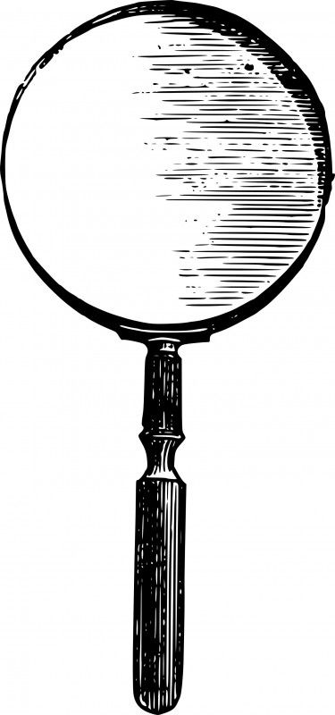 Vintage magnifying glass clip art vector images
