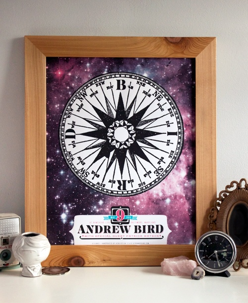 LImited edition Andrew Bird gigposter from Hero Design