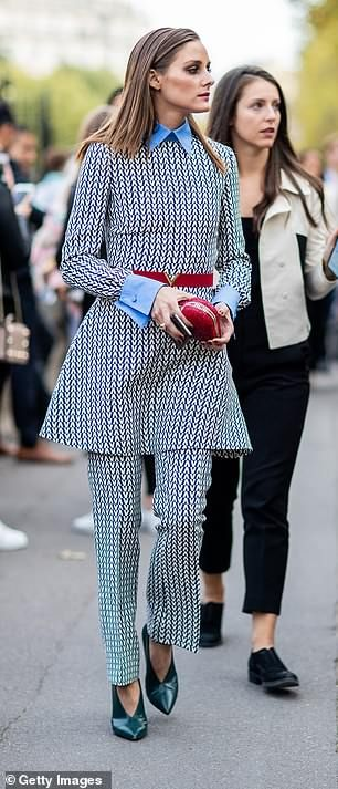 Olivia Palermo looks typically chic at the John Galliano PFW show