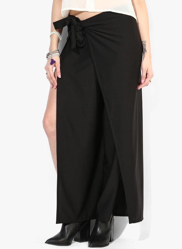 Rock a Friday night or a Monday morning with formal trousers by Sangria. SHOP HERE--> http://www.jabongworld.com/black-trousers.html
