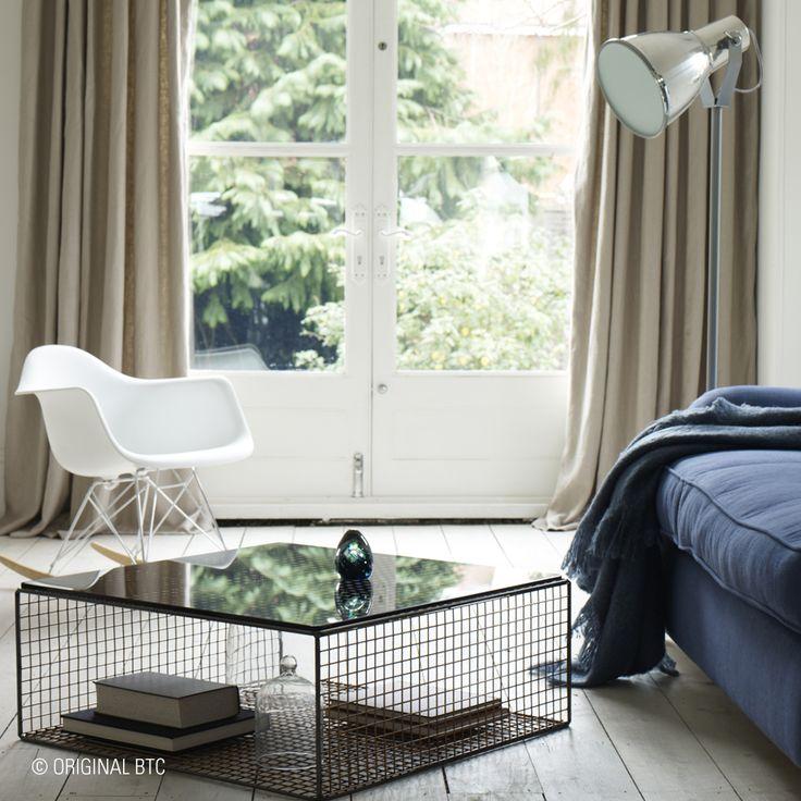 Create a striking contemporary look with the industrial-chic #Stirrup Floor Light in natural aluminium. #OriginalBTC #lightingdesign #interiordesign #StirrupRange