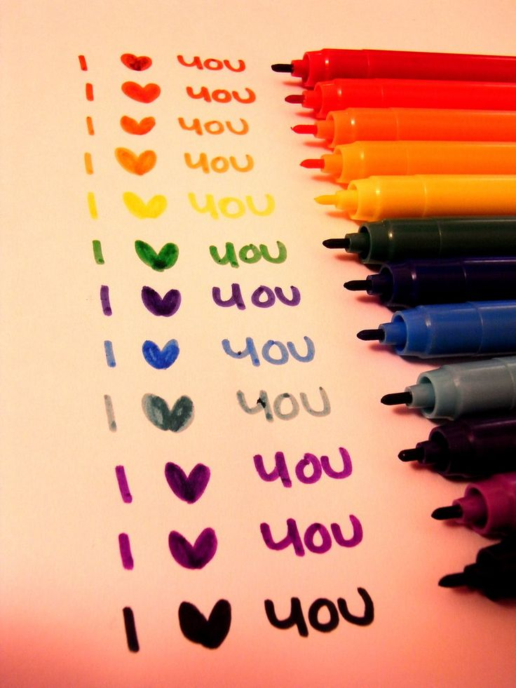 in every color.Inspiration, Heart, Quotes, Markers, Colors, Rainbows, Things, Cards, Photography