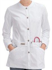 Style # 9607: WHITE: Urbane Scrubs Modern Lab Jacket