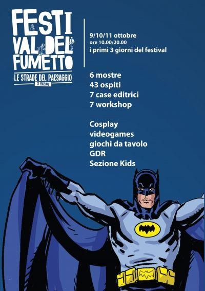 Dal 9 ottobre arriva a Cosenza il Festival del Fumetto. Ospiti Manara, Brunori, Batman, passando per L'Albero della Cuccagna di Bonito Oliva.
