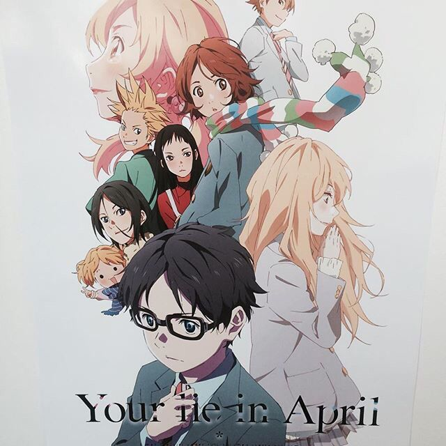 Your lie in April poster at anime expo 2016