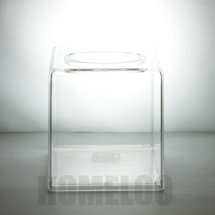 Homeloo Square Tissue Paper Box Cover Holder Modern Transparent Acrylic