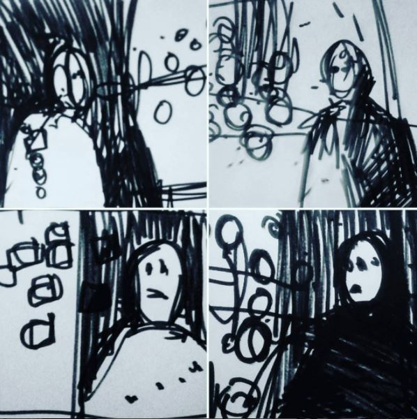 "#draweveryday #everyday #inktober #inktober2017 "" #cinematograpic studies "" for a #learnsquared #cinematography course I am doing by @jsweeney2147 #design from my #sciencefiction #3Zuniverse"