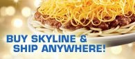 Cinnatti Chili.  You either love it or hate it.....3 way all the way!  Buy Skyline & Ship Anywhere!