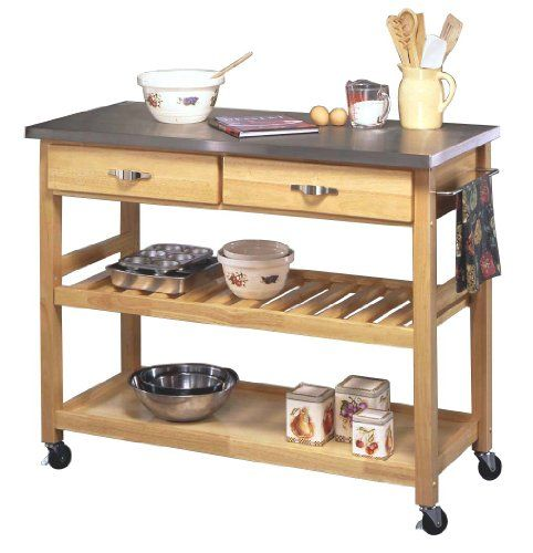 Home Styles Natural Designer Utility Cart with Stainless Steel Top Home Styles,http://www.amazon.com/dp/B00020L7AU/ref=cm_sw_r_pi_dp_nQTAtb0X4B6NSESZ
