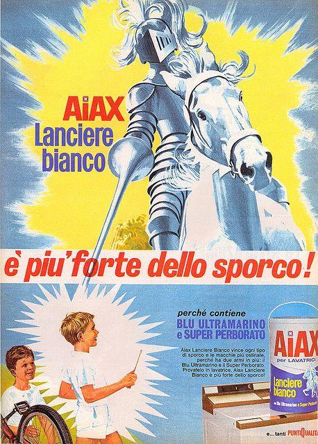 pubblicità - anni 60s - aiax-Italian vintage AD