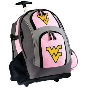 WVU Rolling Backpack Deluxe Pink West Virginia University - Backpacks Bags with Wheels or School Trolley Carry-On Suitcase Bags - Unique Wheeled Gifts for Girls Ladies Women (Apparel)  http://documentaries.me.uk/other.php?p=B005HEI0A6  B005HEI0A6