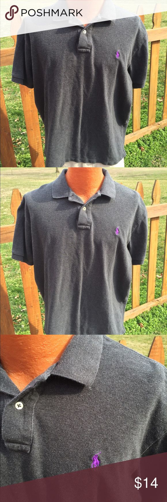 Polo Ralph Lauren Mens Shirt Size XL Size xl. Super gently preowned. Dark grey in color. Be sure to view the other items in our closet. We offer both women's and Mens items in a variety of sizes. Bundle and save!! Thank you for viewing our item!! Polo by Ralph Lauren Shirts Polos