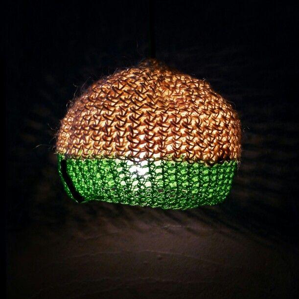Handmade crochet lamp - Com Raiz www..facebook.com/comraiz