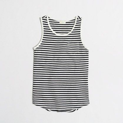 J.Crew Factory - factory girls' pocket tank in stripe
