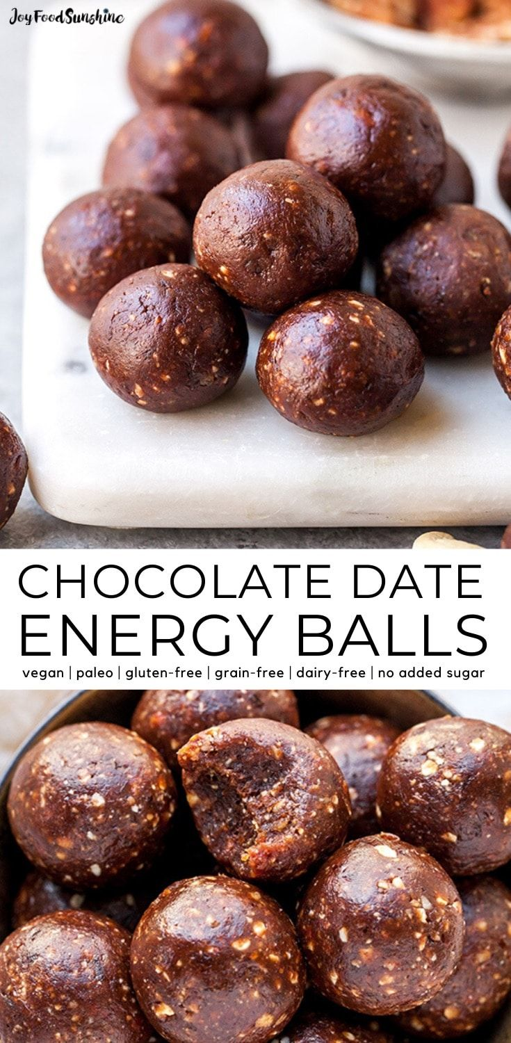 No Bake Chocolate Date Energy Balls Recipe These Healthy Energy