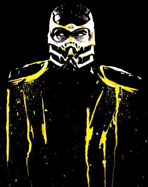 Mortal Kombat, Scorpion Por:Justin13Art